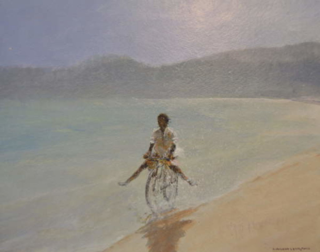Detail of Boy on a Bike by Lincoln Seligman