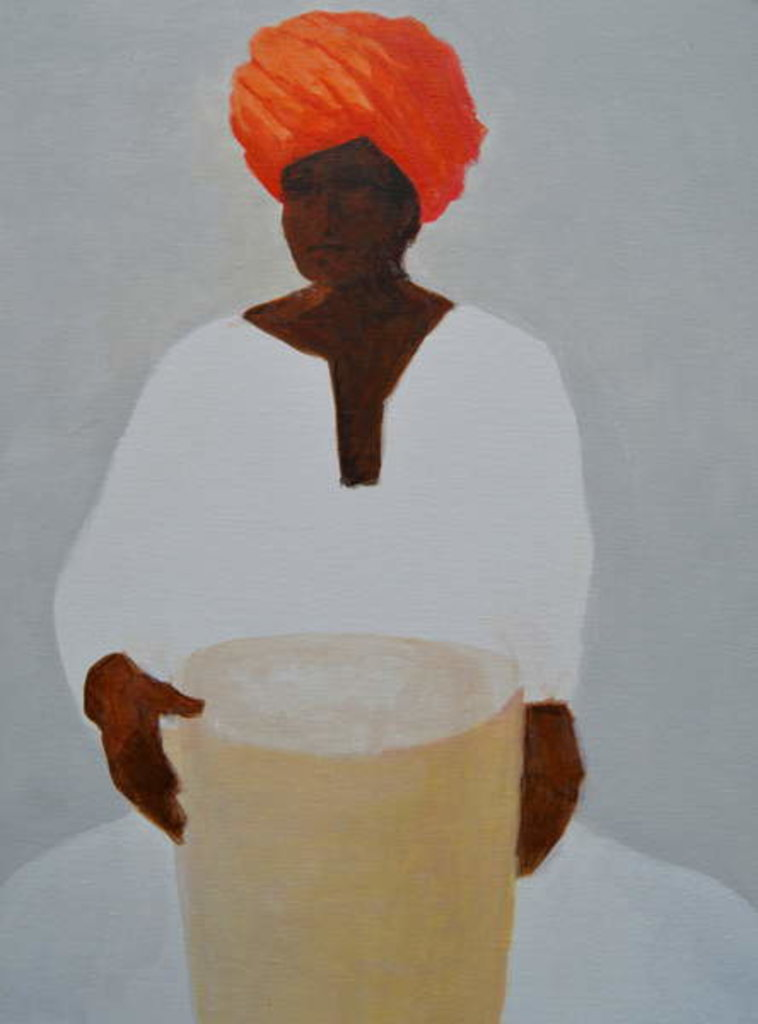 Detail of Drummer, Red Turban by Lincoln Seligman