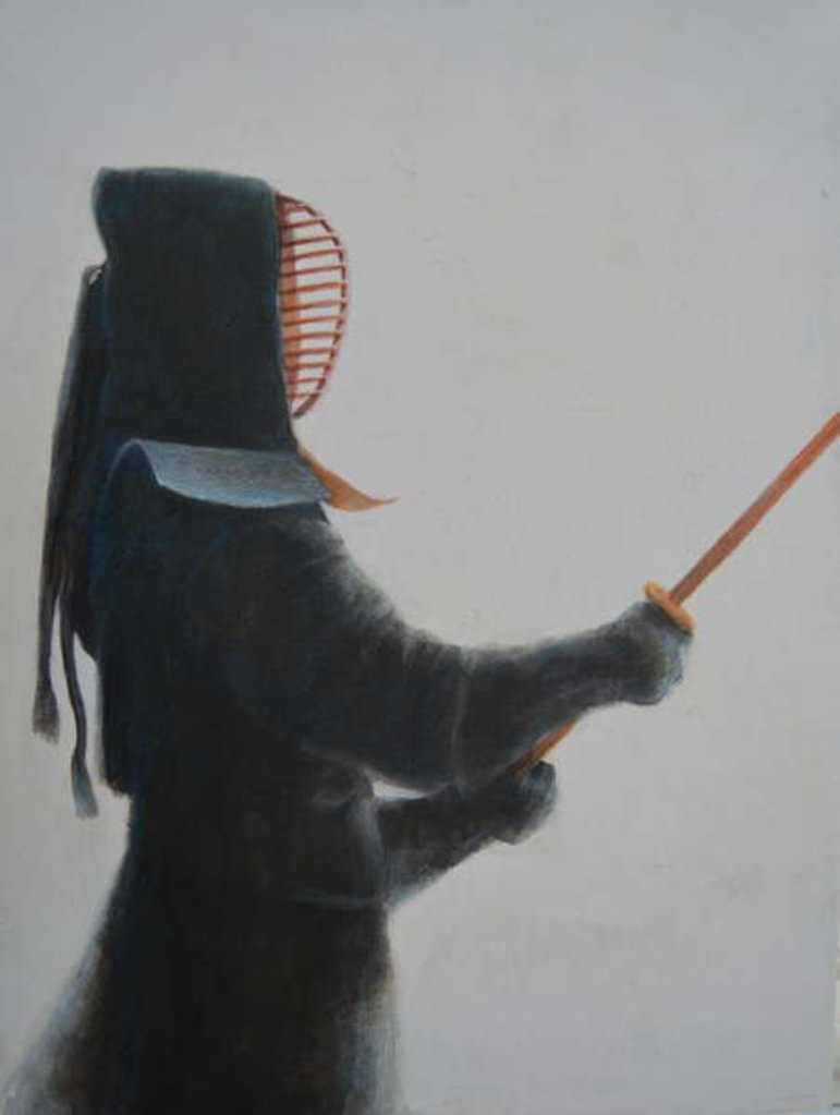 Detail of Kendo Warrior by Lincoln Seligman