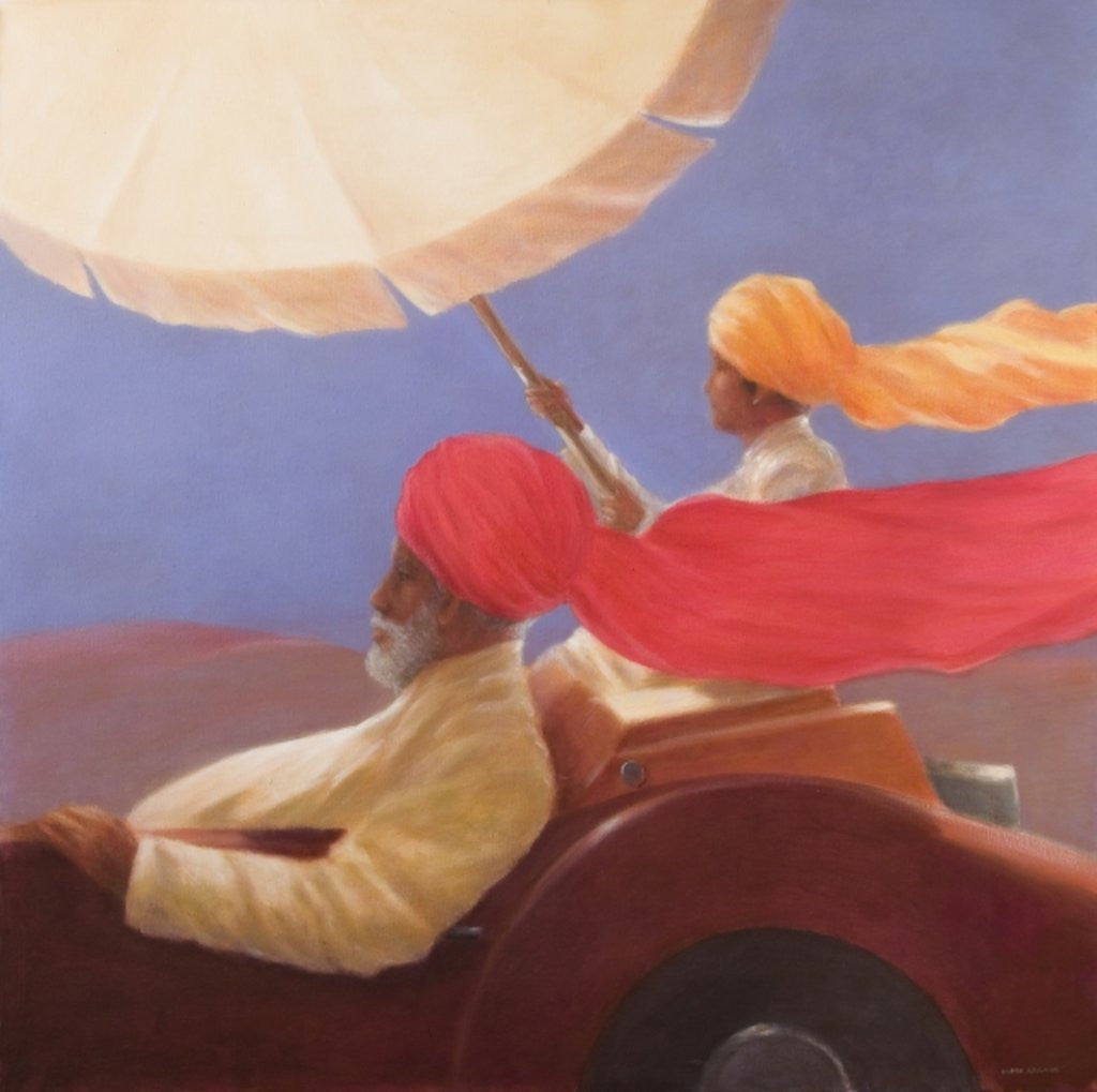 Detail of Maharaja at Speed by Lincoln Seligman