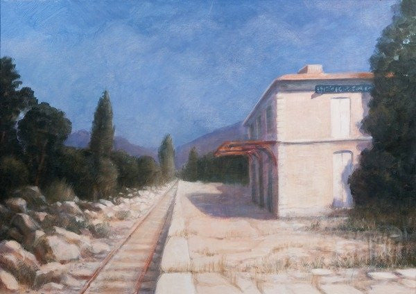 Detail of Rail station, Châteauneuf by Lincoln Seligman