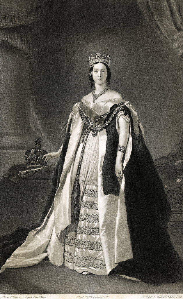 Detail of Full Length Portrait Of Queen Victoria by Corbis