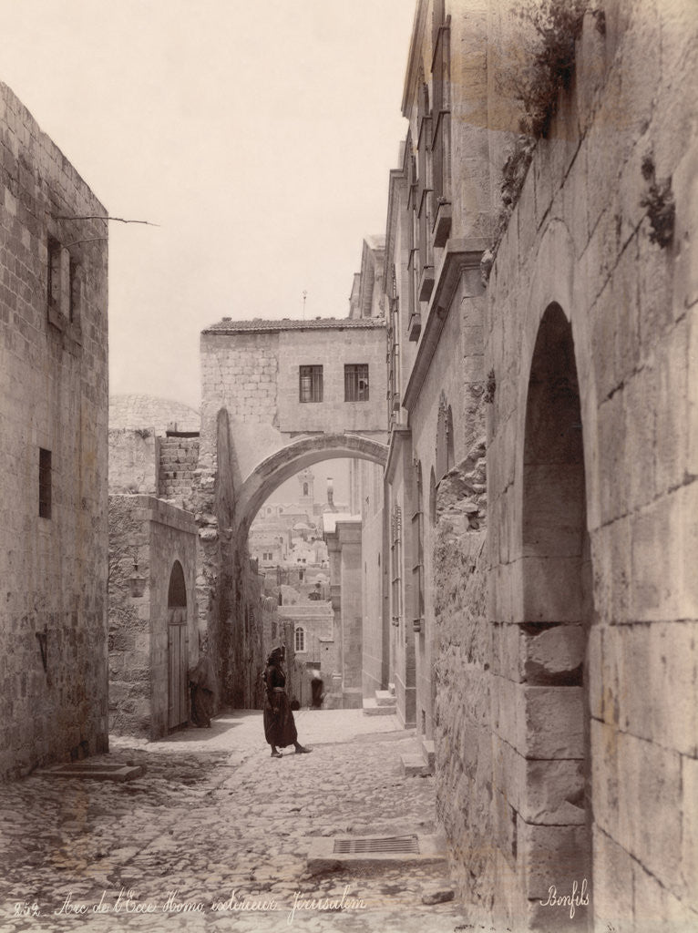 Detail of Ecce Homo Arch in Jerusalem by Corbis