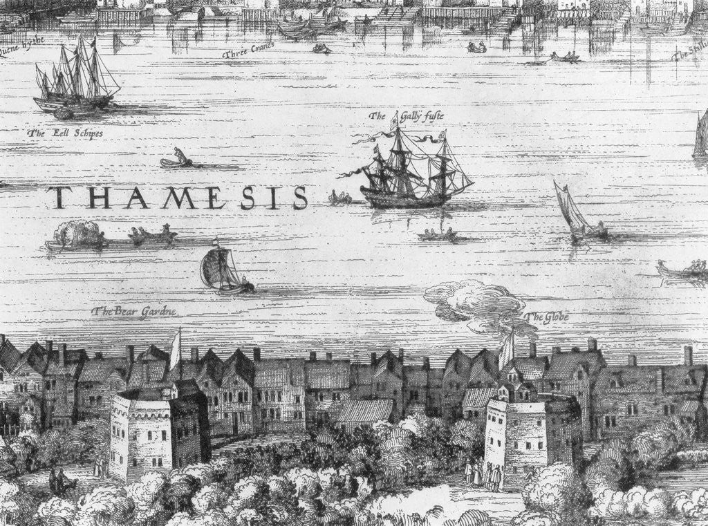 Detail of 17th Century View of London by Corbis