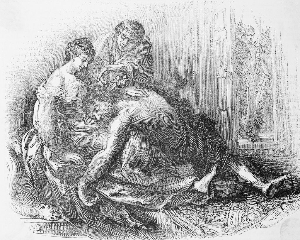 Detail of Samson Having His Hair Removed by Delilah and Culprit by Corbis