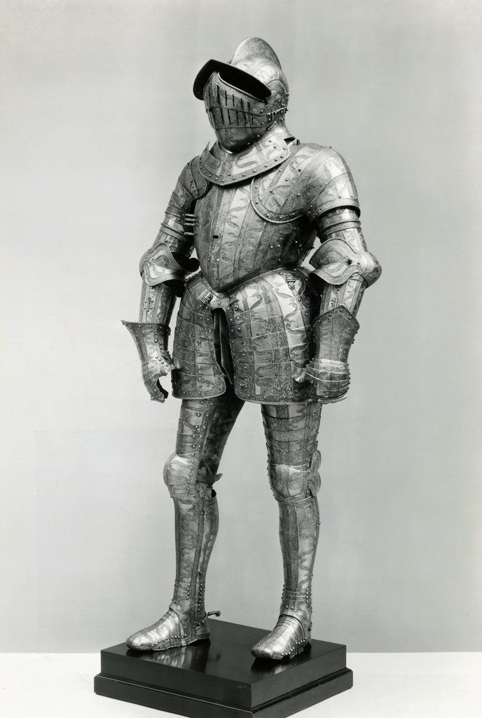 Detail of Display of a Knights Armor by Corbis