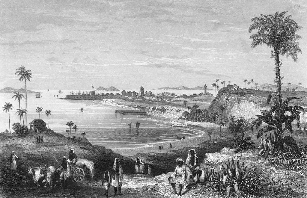 Detail of Bombay Citizens Along Shoreline by Corbis