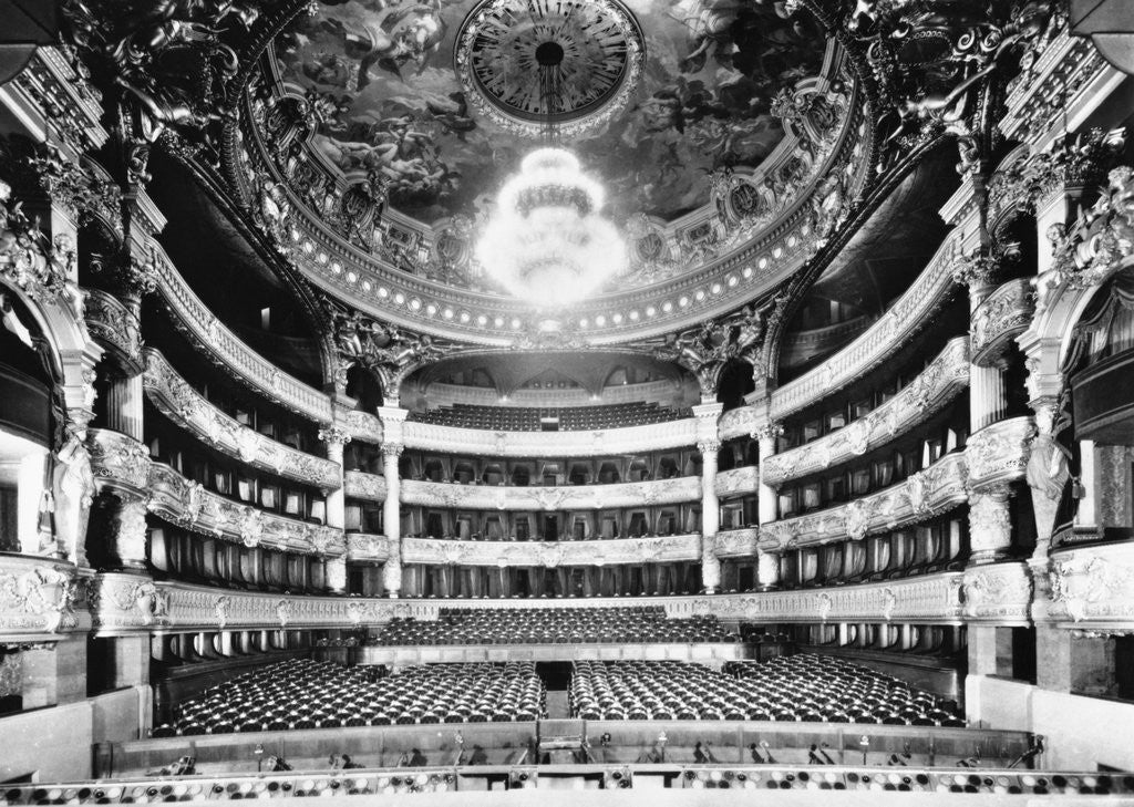 Detail of Auditorium of Paris Opera by Corbis