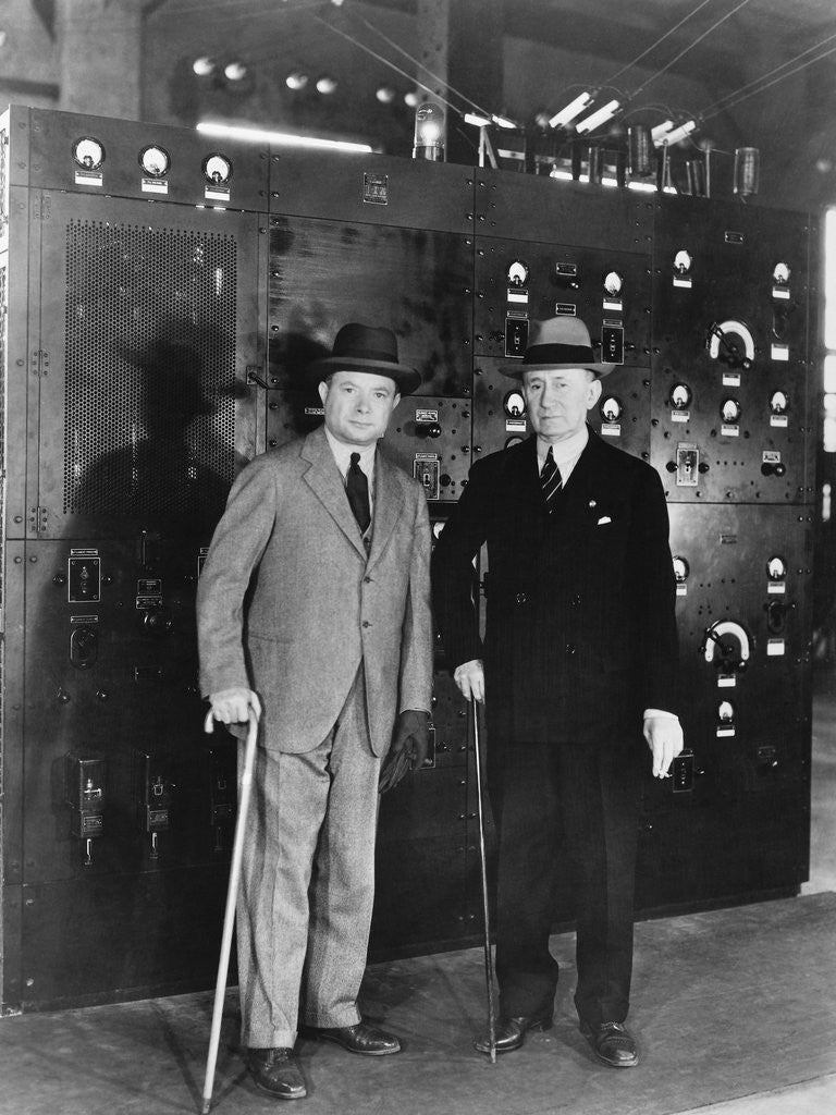 Detail of David Sarnoff with Guglielmo Marconi by Corbis