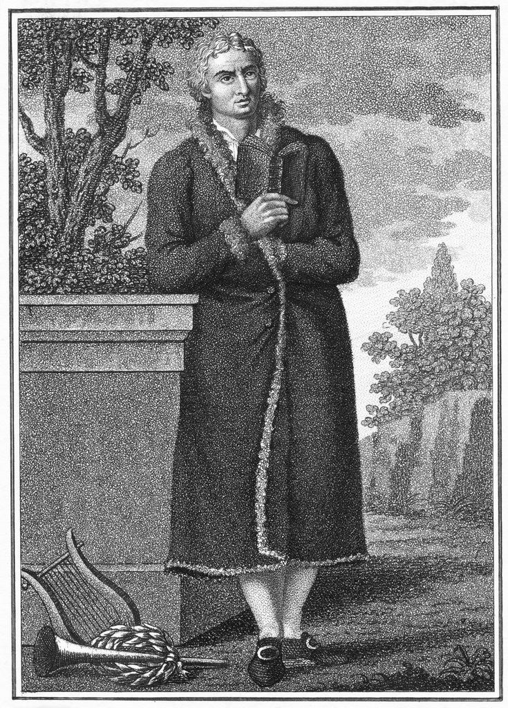 Detail of Illustration of Poet Friedrich Schiller Outdoors by Corbis