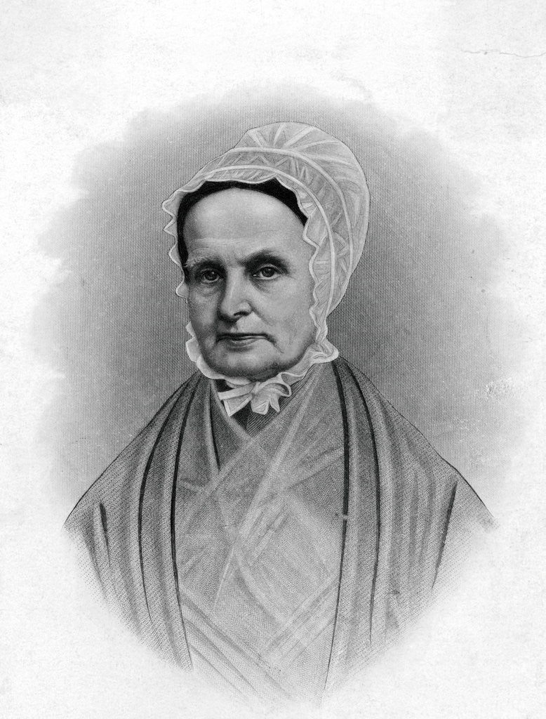 Detail of Illustrated Portrait of Lucretia Mott by Corbis