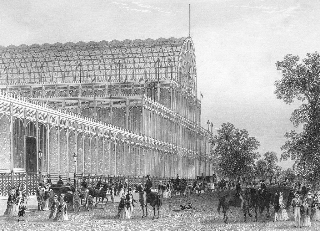 Detail of Engraving of the South Transept of the Crystal Palace by Corbis