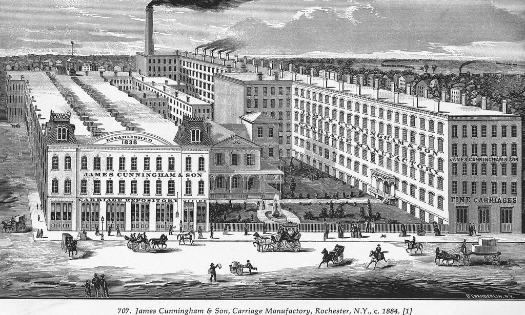 Detail of Illustration of Carriage Factory by Corbis