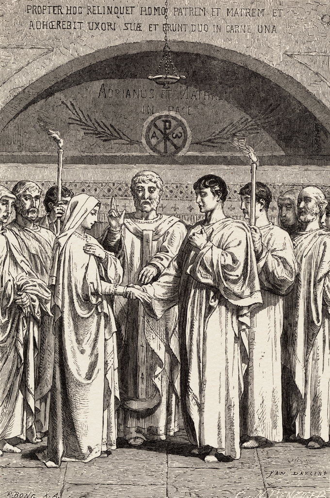 Detail of Roman Wedding Ceremony by Corbis