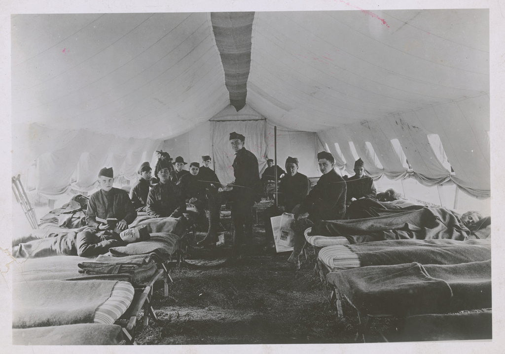 Detail of French Field Hospital During World War I by Corbis