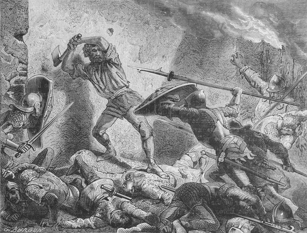 Detail of Death of Roland by Corbis