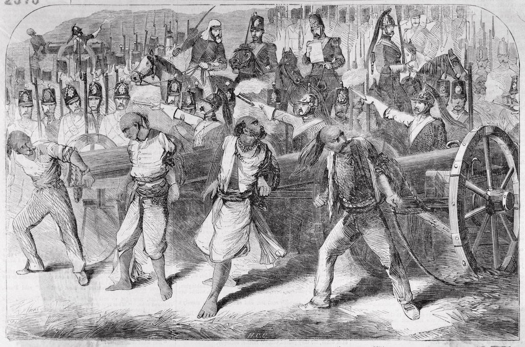 Detail of British Executing During Sepoy Revolt by Corbis