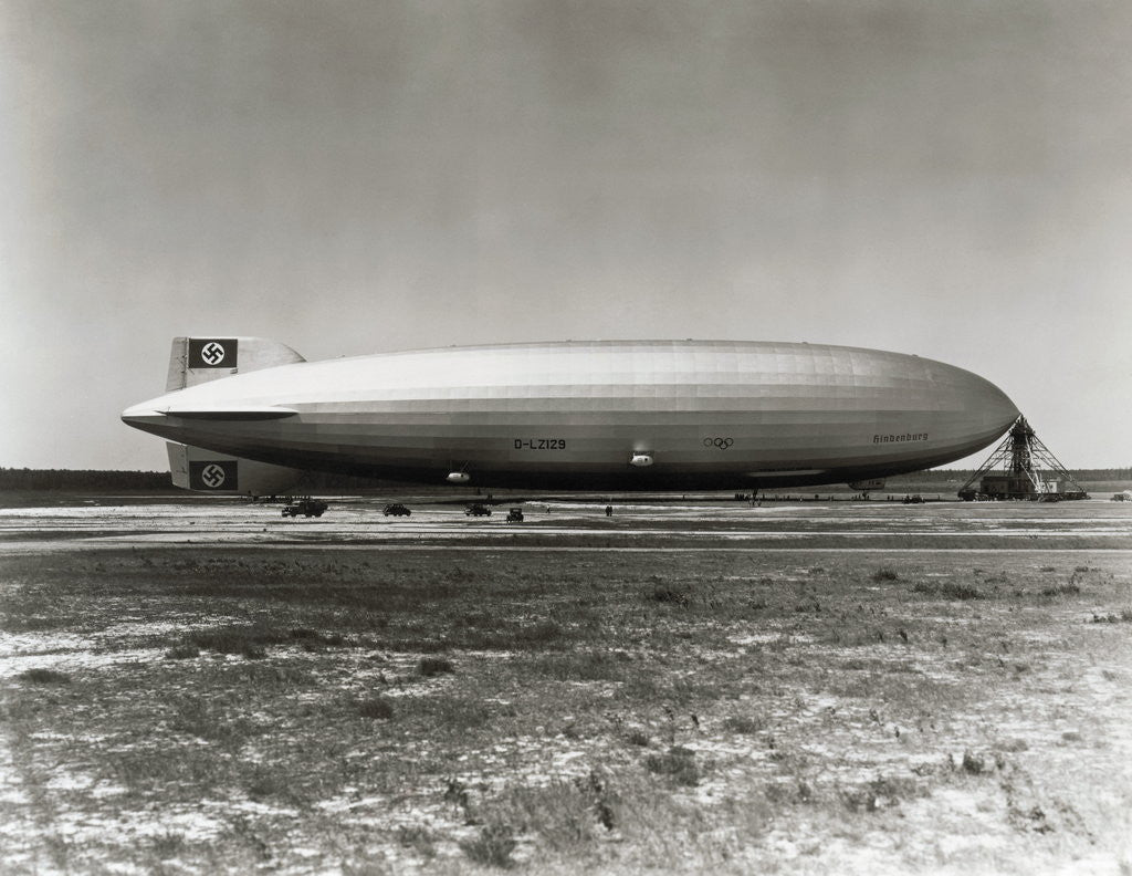 Detail of Hindenburg on Mast by Corbis