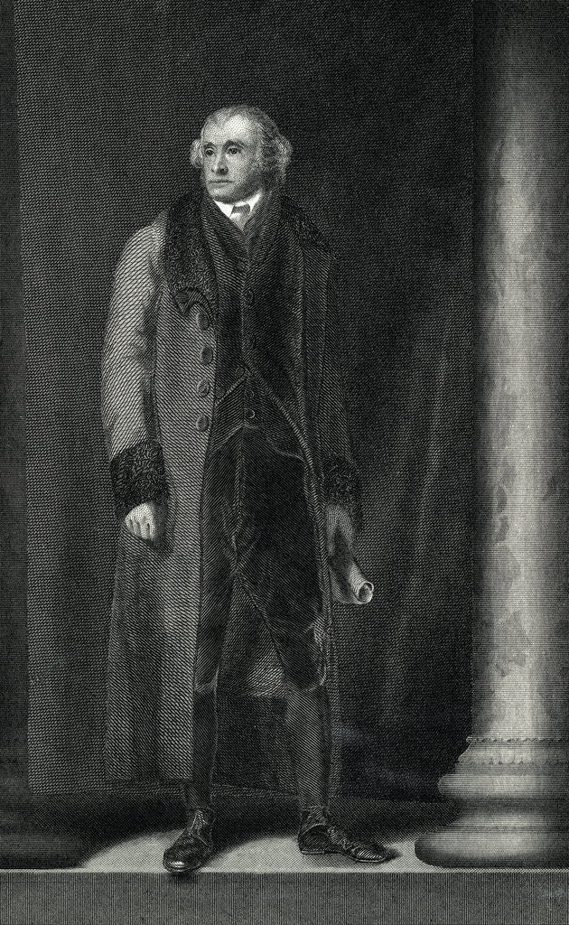 Detail of Full Length Portrait of Thomas Jefferson by Corbis