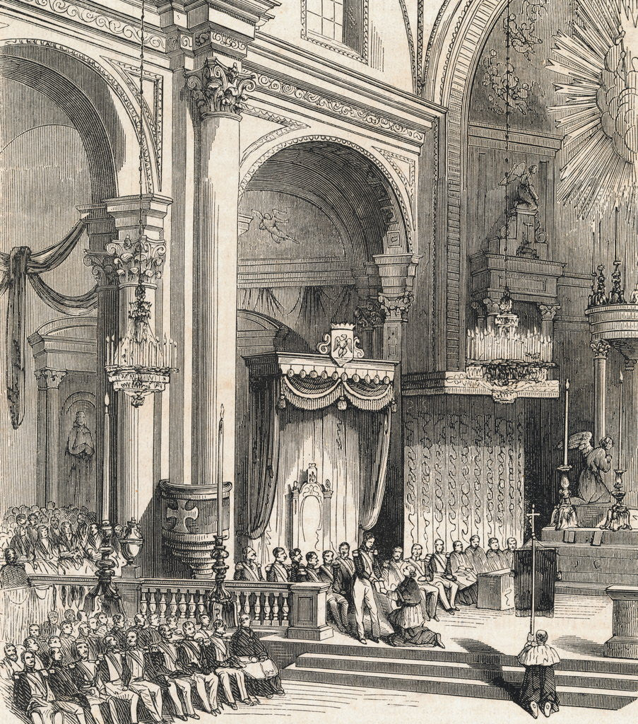 Detail of Inauguration Ceremonies for Antonio Lopez or Santa Ana by Corbis