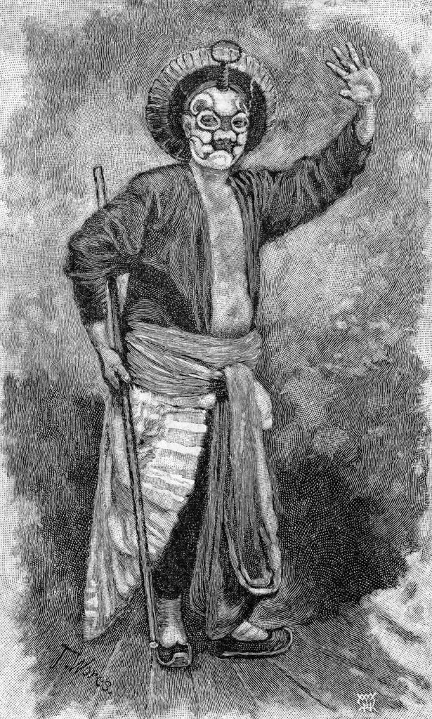 Detail of Asian Pirate Wearing Mask by Corbis