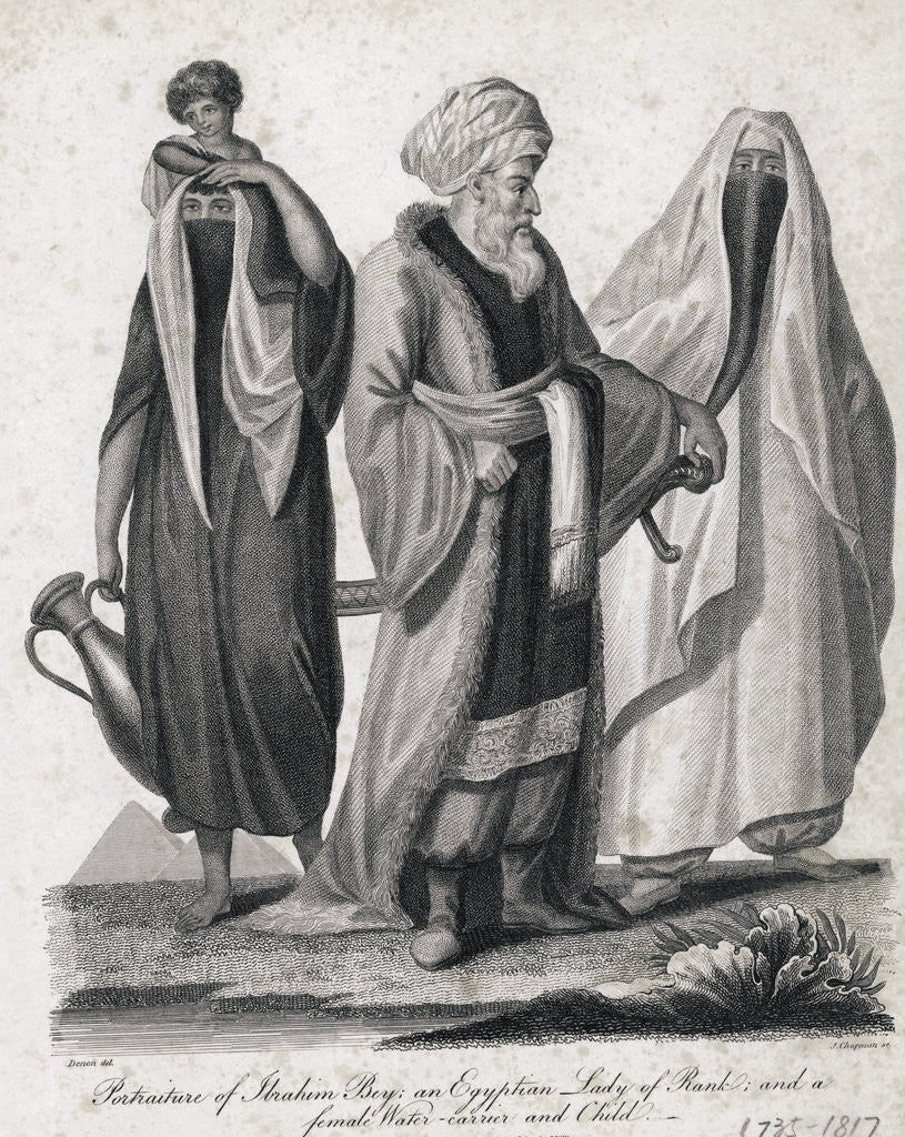 Detail of Engraving of Egytian Group by Corbis