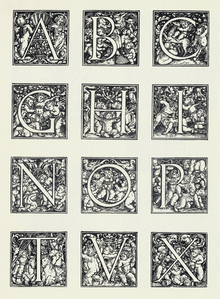 Detail of Decorative Letters by Corbis