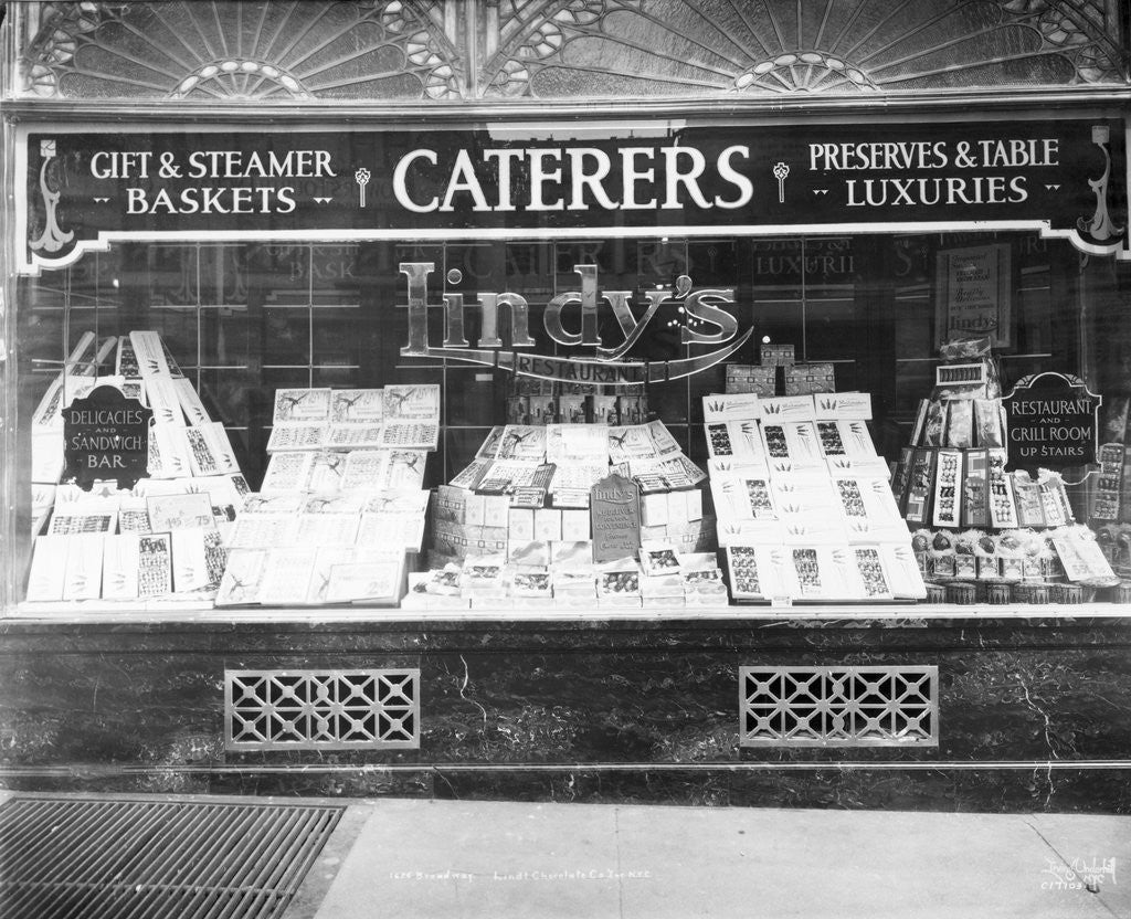 Detail of Lindy's Caterers and Restaurant by Corbis
