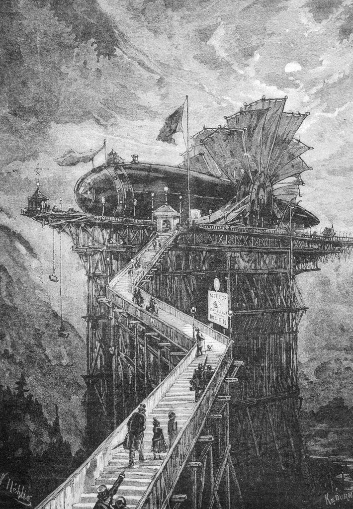 Detail of Gangplank to Fanciful Moon-Bound Ship by Corbis