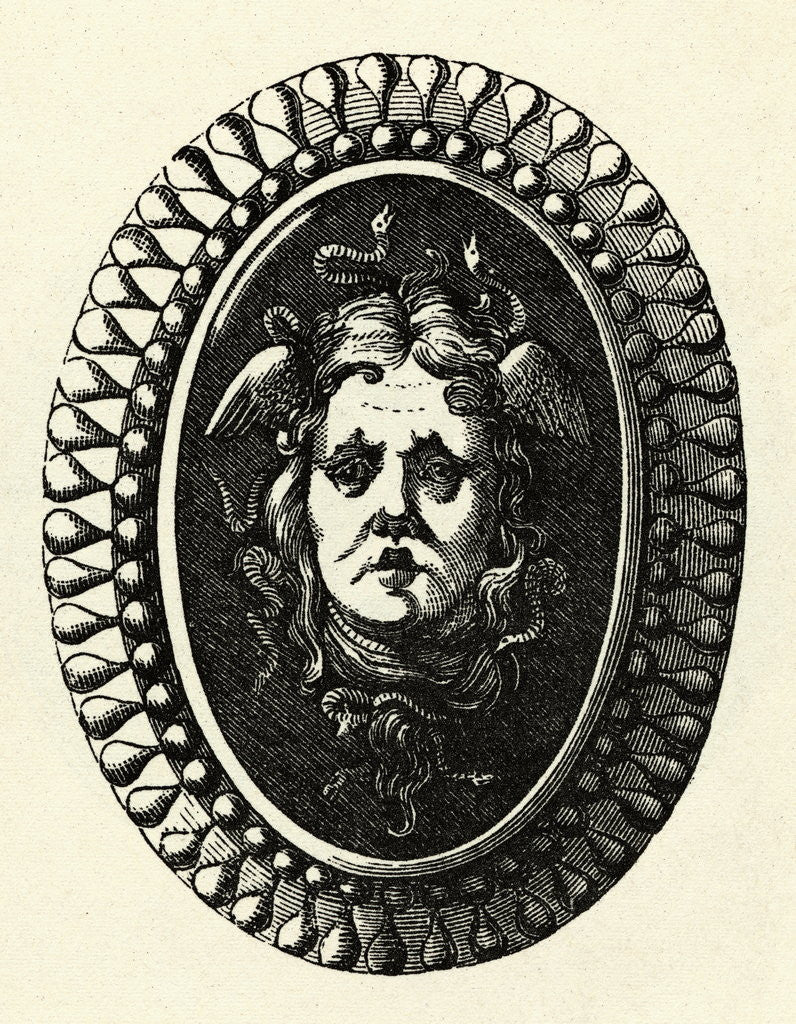 Head of Medusa on Shield by Corbis