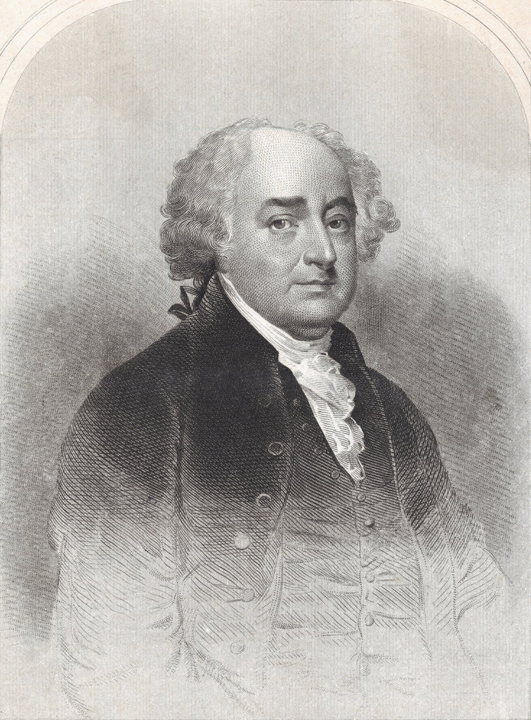 Detail of Illustrated Portrait of John Adams by Corbis
