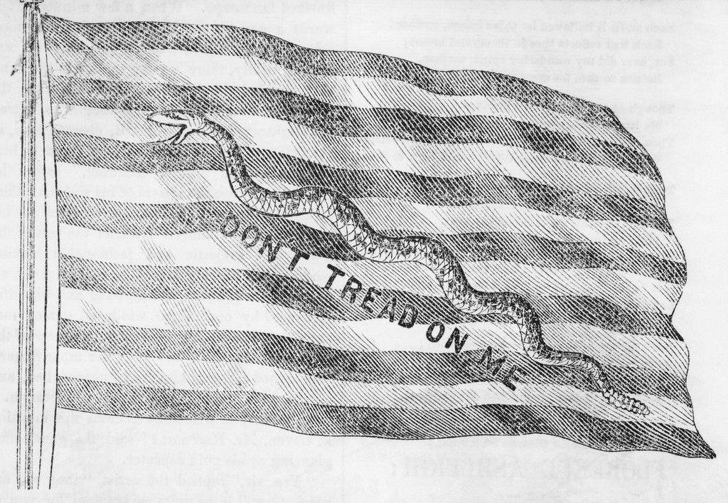 Detail of First U. S. Navy Jack Flag by Corbis