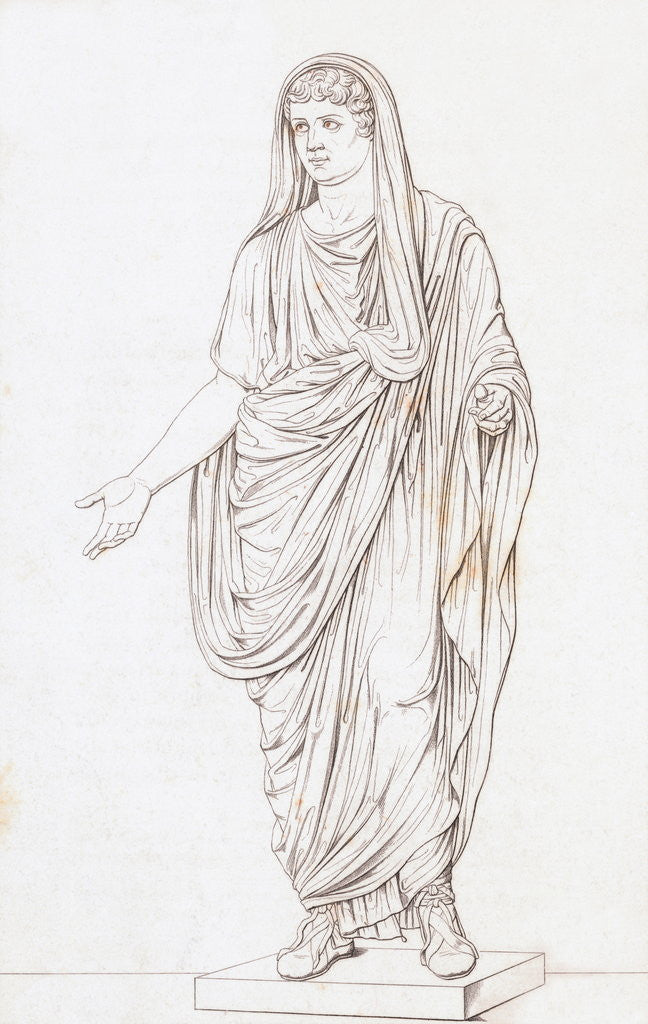 Detail of Drawing of Nero by Corbis