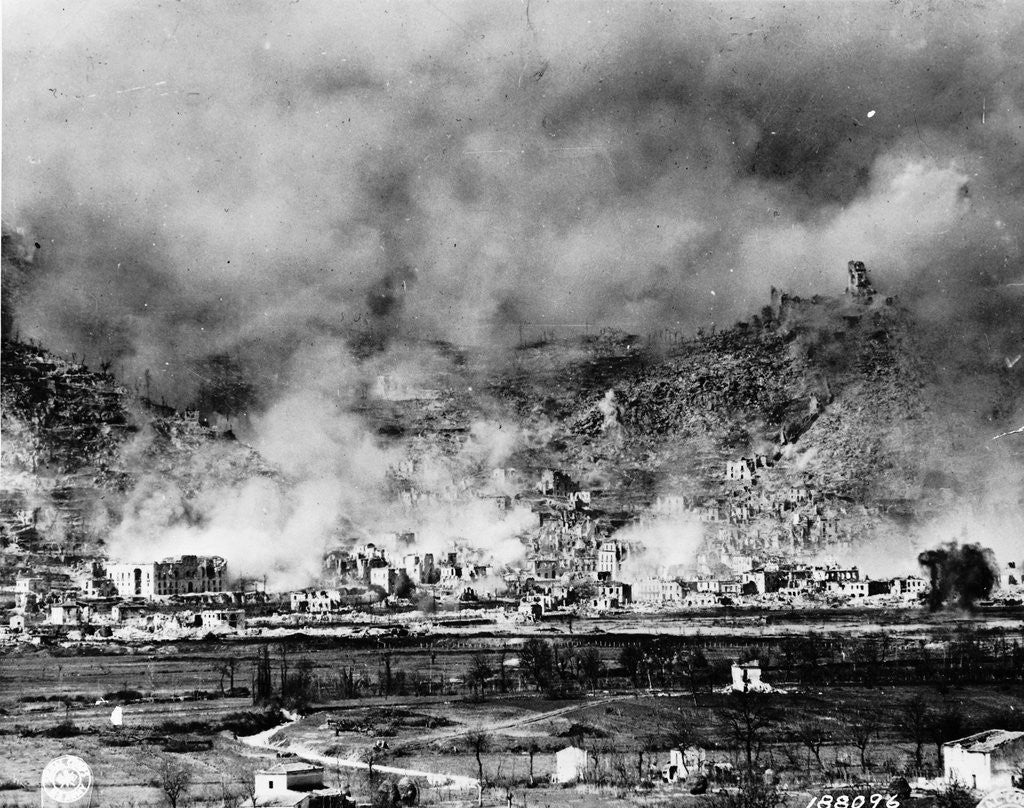 Detail of Allied Bombing on German Controled Town by Corbis