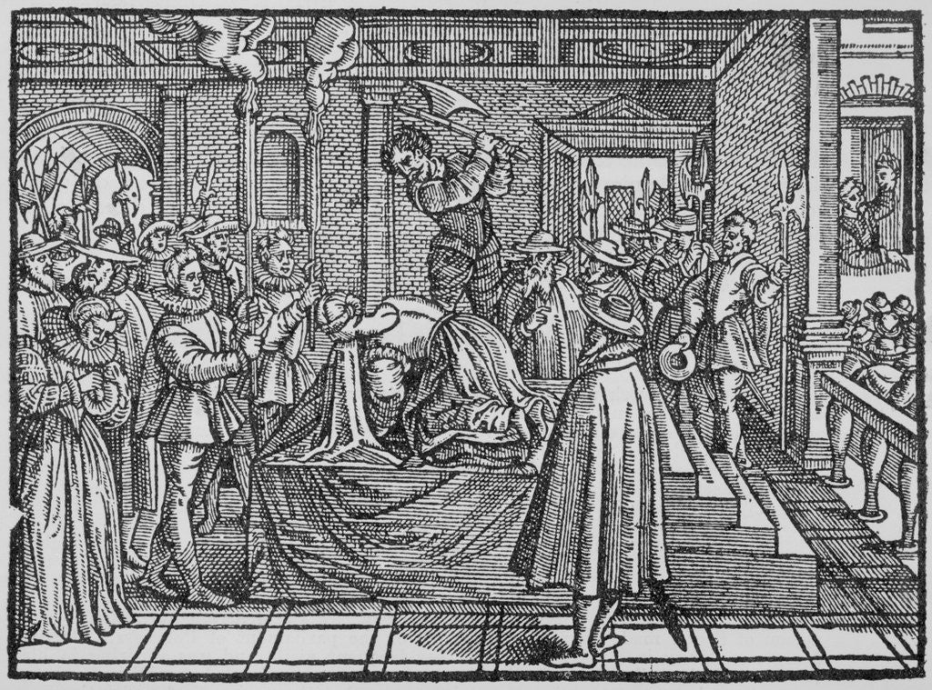 Detail of Execution Scene of Mary Queen of the Scots by Corbis