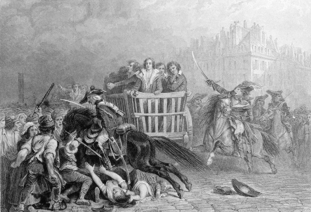 Detail of Executioners Taking Convicted to Final Destination by Corbis