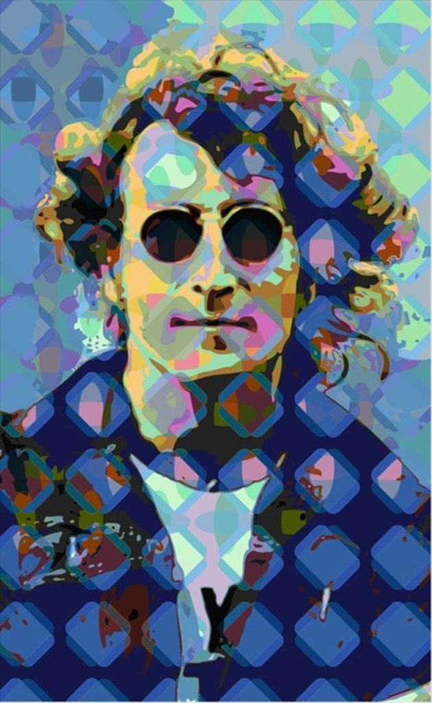 Detail of John Lennon by Scott J. Davis