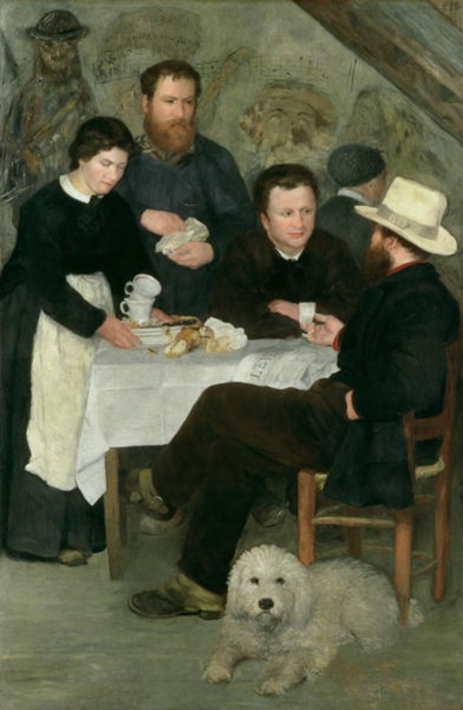 Detail of Mother Anthony's Tavern, 1866 by Pierre Auguste Renoir
