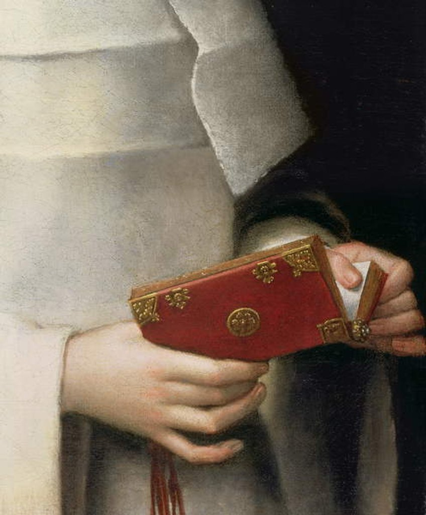 Detail of Portrait of the artist's sister in the garb of a nun by Sofonisba Anguissola