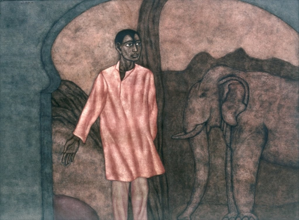 Detail of Guide, 1997 by Shanti Panchal