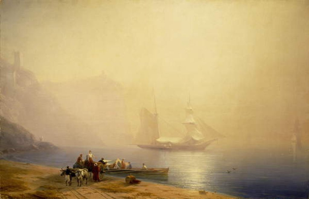 Detail of Morning on the Shore of the Sea, Sudak, 1856 by Ivan Konstantinovich Aivazovsky
