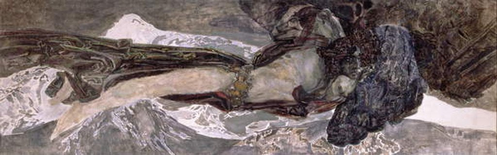 Detail of The Flying Demon, 1899 by Mikhail Aleksandrovich Vrubel