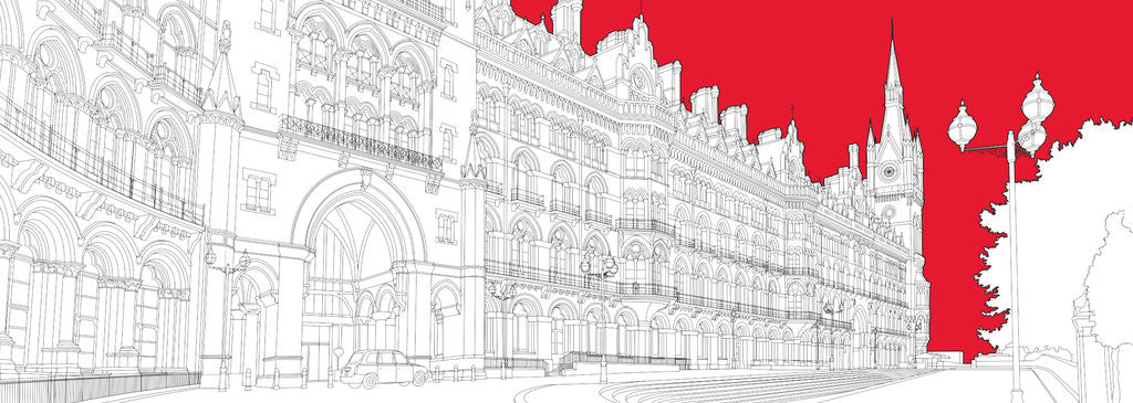 Detail of St Pancras by People Will Always Need Plates