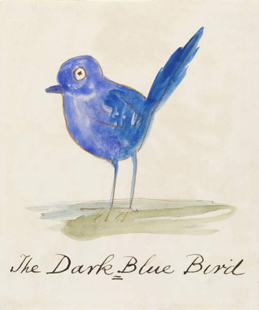 Detail of The Dark Blue Bird by Edward Lear