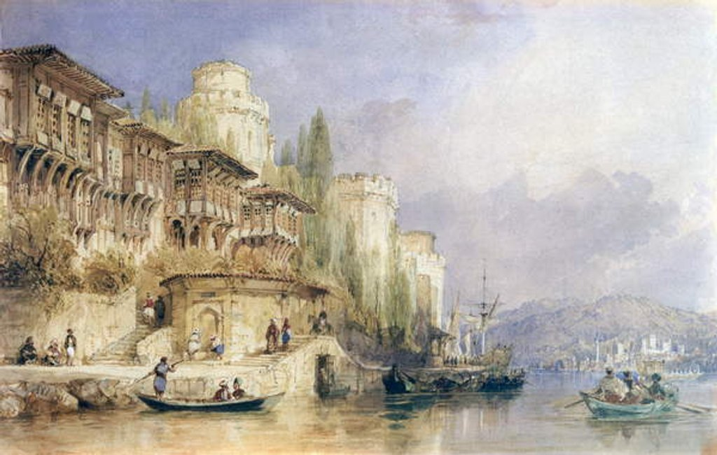Detail of The House on the Bosphorus by Thomas Allom