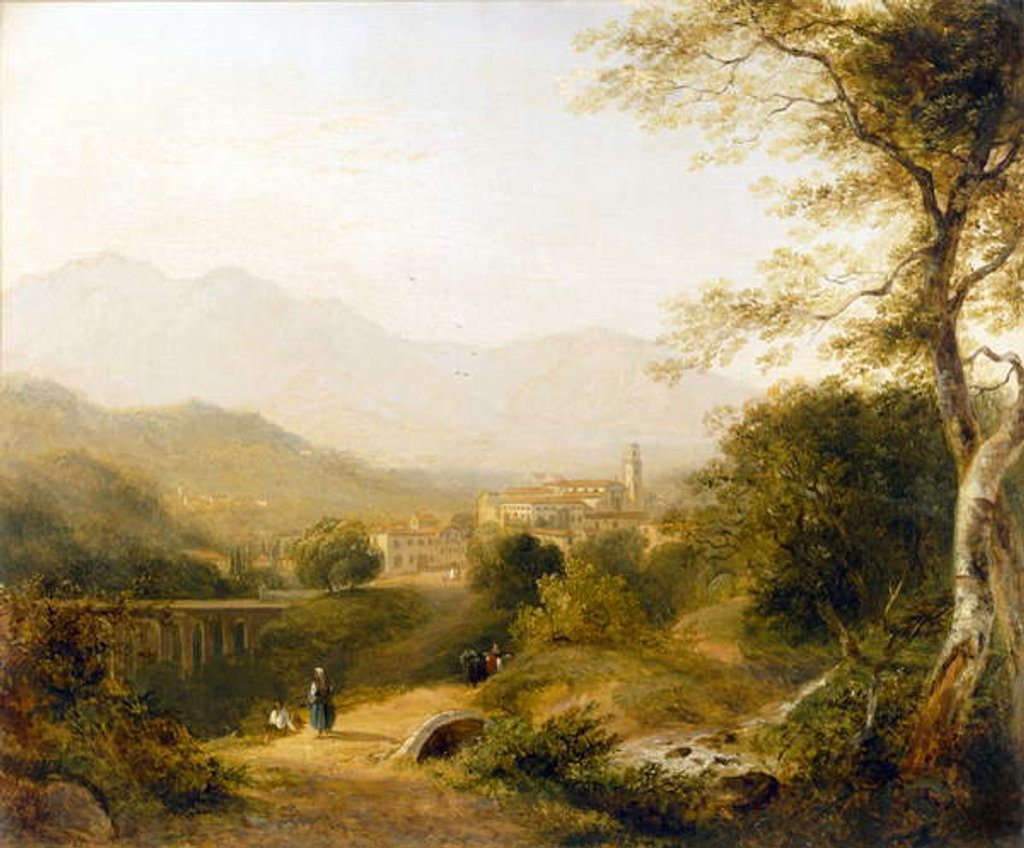 Detail of Italian Landscape by Joseph William Allen