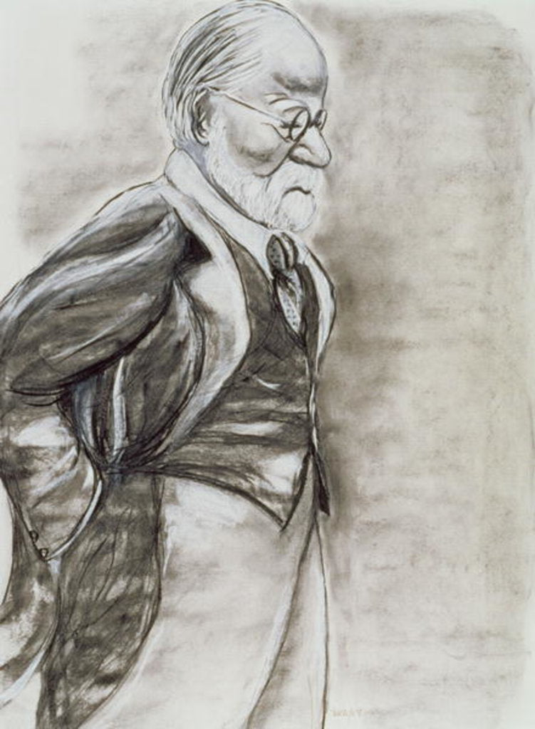 Detail of Sigmund Freud, 1998 by Stevie Taylor