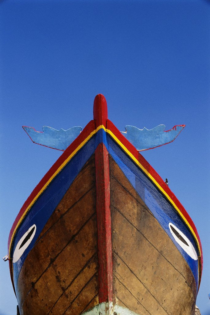 Detail of Decorated Boat Prow by Corbis