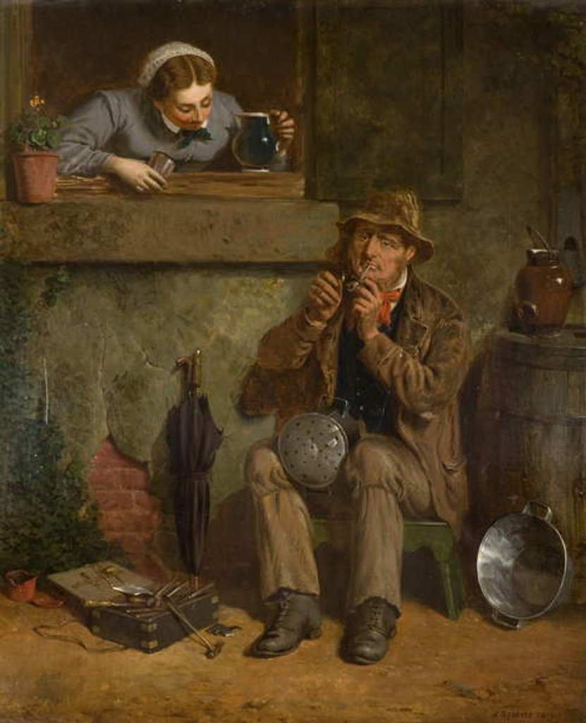 Detail of Creature Comforts, 1876 by James Stokeld