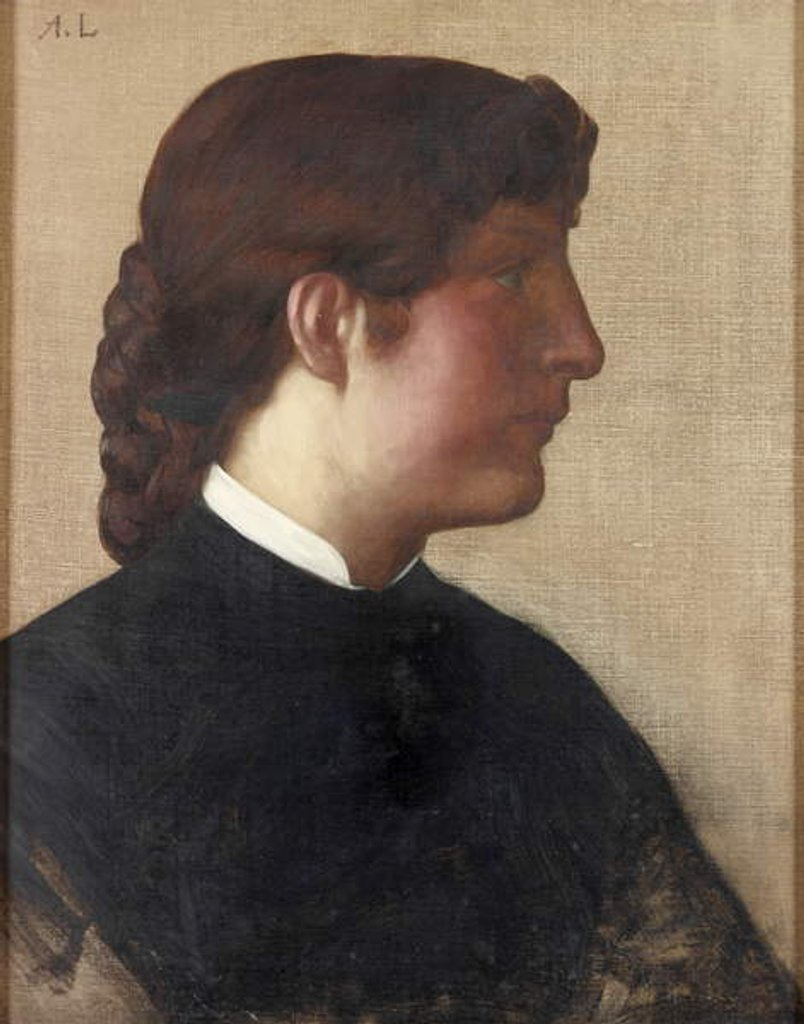 Detail of Portrait of a Lady, c.1879 by Alphonse Legros